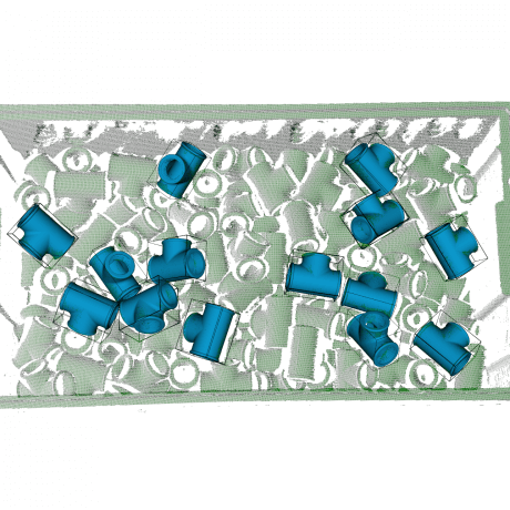 Scene with localized T-shapes