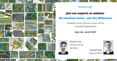 Join our webinar: 3D machine vision – see the difference